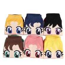Cartoon Sailor Moon socks Mercury Mars Jupiter Venus girls Kawaii Cute funny Socks Women's Cotton Harajuku short Socks sox 9style sailor moon figure toy tsukino usagi mars jupiter venus mercury uranus pluto shfguart with box