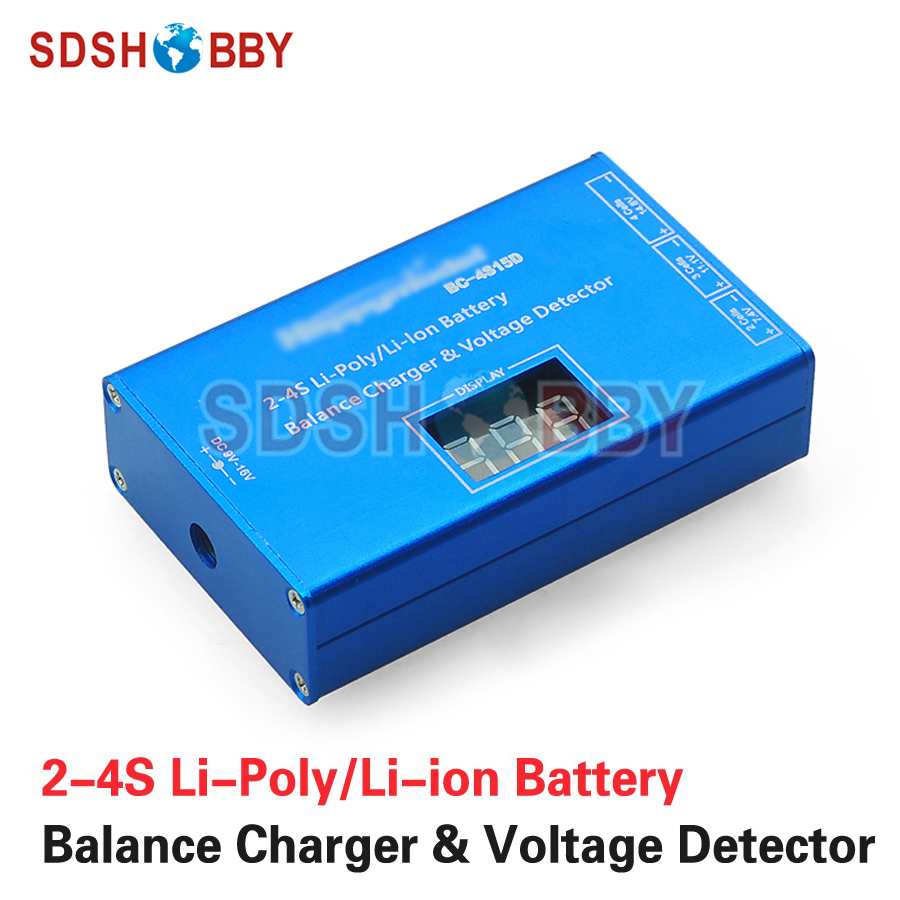 BC4S15D 2-4S Battery Balance Charger & Voltage Detector Charging Adapter with LCD Display for 2S/3S/4S LiPo Li-ion Battery 14 6v 20a 4s lithium and 4s lifepo4 battery charger charging voltage