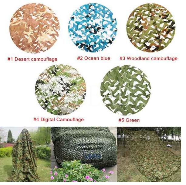 VILEAD 9 Colors  4M*6M Camouflage Netting Camo Net for Forest Pretend Exposure Hunting Military Training Outdoor Shade Car Cover vilead 9 colors  4m 5m camouflage