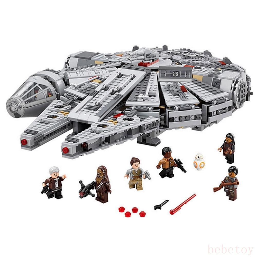 ФОТО 1381pcs Building Blocks Starts Millennium Falcon Figure Toys jiang war block Force Awakens Millennium Falcon Model Gift