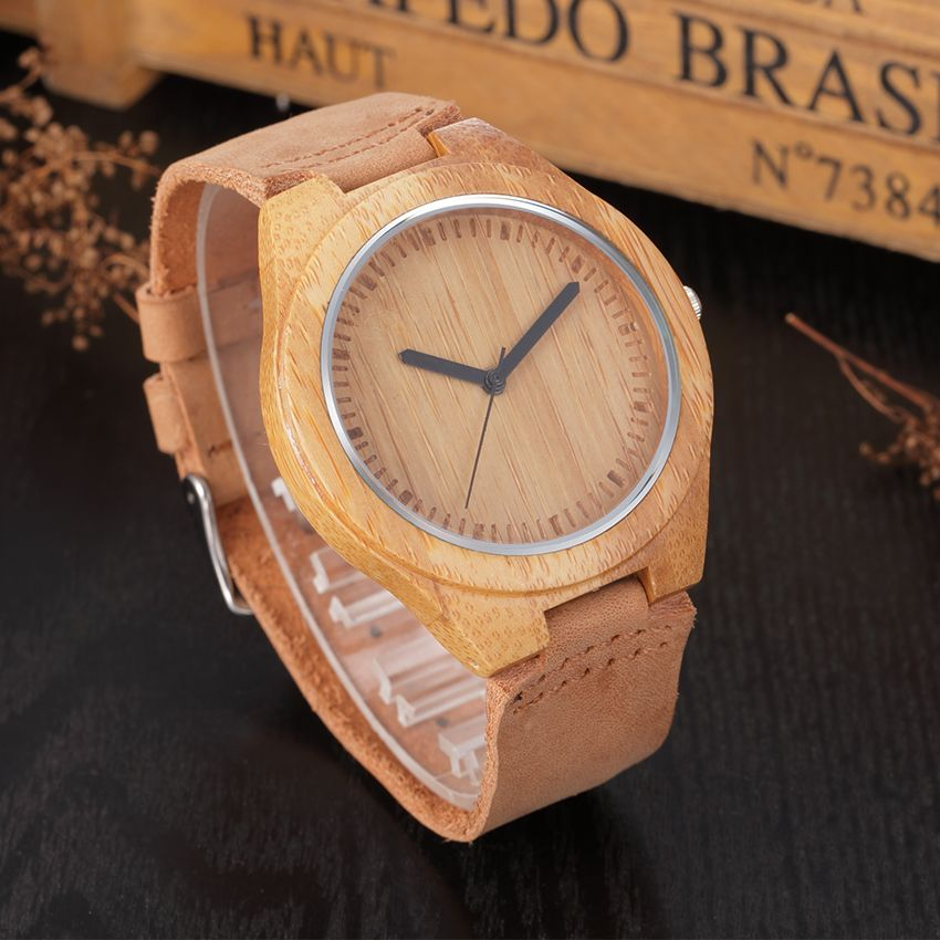 2017 Promotion New Arrival Japanese Miyota Wristwatches Genuine Leather Bamboo Wooden Watches For Men Women Christmas Gifts brand new original authentic japanese bamboo fx83bc takex optical fiber in the diffuse reflection the spot promotion