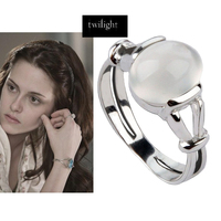 Twilight New Moon Bella Natural Moonstone 925 Silver Ring Isabella Swan Cullen Vampire Girl Twilight Ring Replica S925 Jewelry