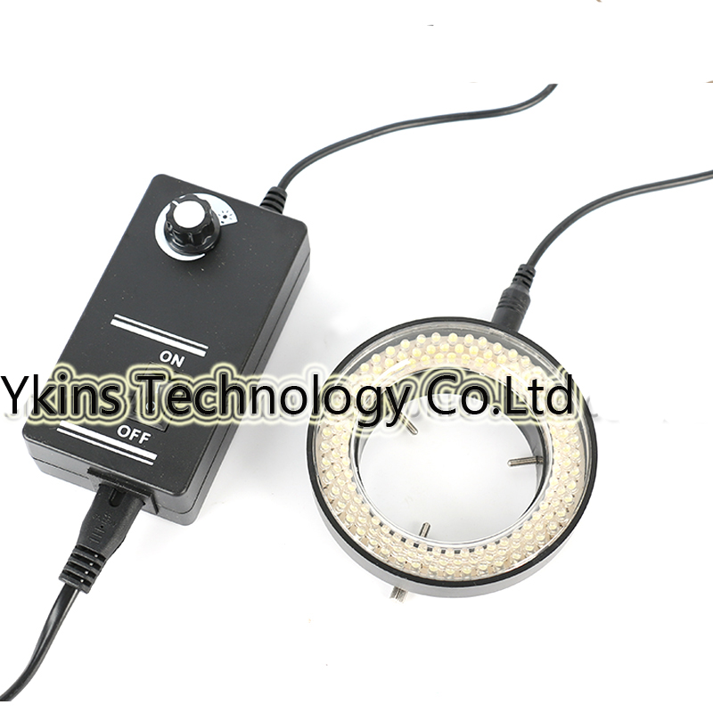 Blanc/Noir 144 LED Anneau Réglable illuminateur Lampe Pour L'industrie Microscope Caméra Industrielle Loupe
