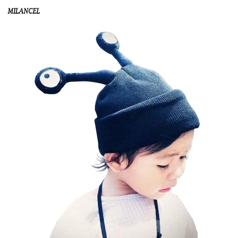 2018 الخريف الحشرات نمط الطفل قبعة فتاة بوي قبعة طفل رضيع أطفال قبعات جميل حك الكروشيه بونيه ملحقاتها