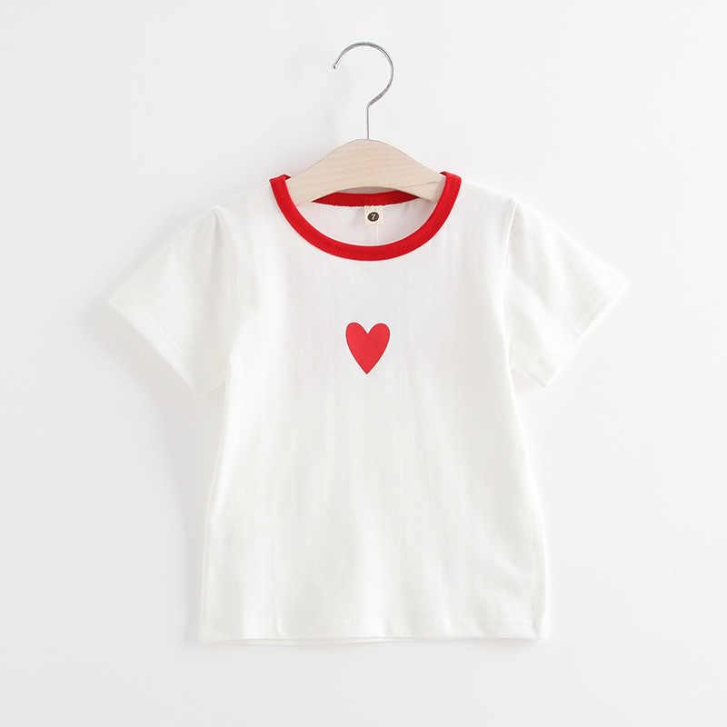 Детская одежда футболка для малышей 2018 г. Новая летняя свободная хлопковая футболка с короткими рукавами