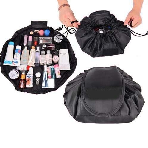 Kordelzug Make-Up Aufbewahrungstasche Wäschesack Beutel Baby Kinder Spielzeug Tasche Frauen Make-Up Kosmetiktaschen Reise Einsatz Folding Container