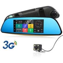 """2017 3G 7 """"Android Coche DVR Espejo Retrovisor Con GPS de Navegación Bluetooth Coche de Estacionamiento de la Cámara de Doble Lente Full HD 1080 P Auto Registrator"""