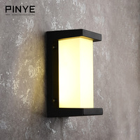 PINYE 18W LED Wall Light Lighting Aluminium Waterproof LED Wall Lamp Courtyard Garden Light IP66 Modern Outdoor Lamp PY004