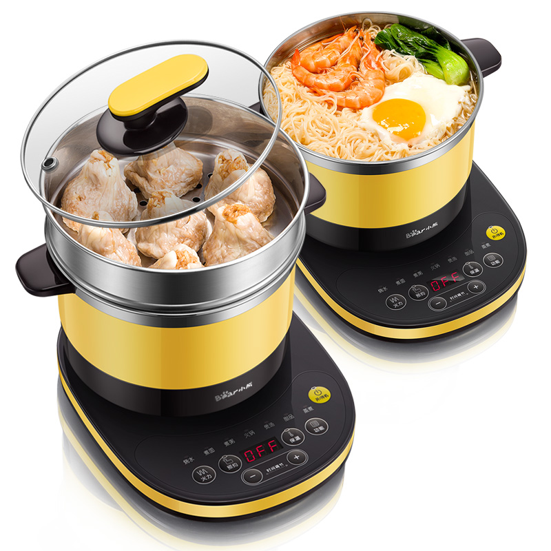 Portable Electric Multi Cooker with Steamer Mini Noodle Cooker Pot Hot Pot Hotpot Kitchen Appliance Multicooker Dorm Room