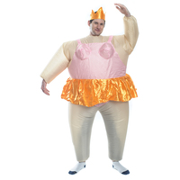 Inflatable Ballerina Adult Costume Blow Up Halloween Party Fancy Dress Fanny Fat Man Ballet Dancer Cosplay
