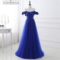 Royal Blue Evening Dresses Cheap 2017 Vestido Longo De Festa Backless Prom Dress Formal Spaghetti Straps