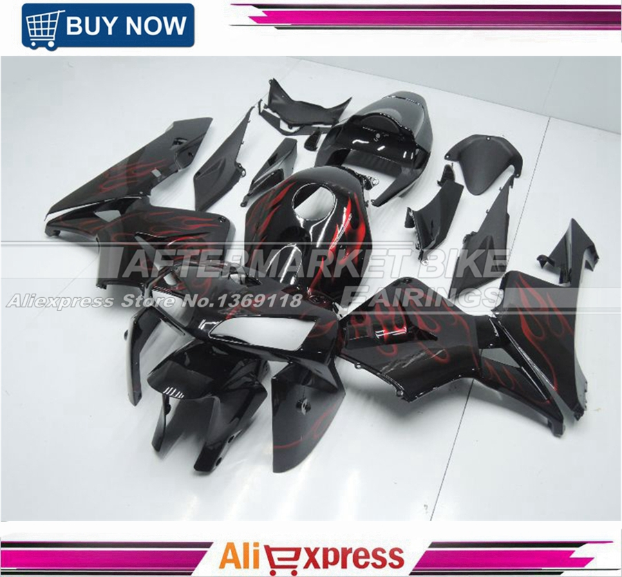 For Honda Aftermarket OEM Fitment Red Flame Stickers CBR600RR 05 06 Fairings F5 прокладки клапанной крышки honda vtr1000f