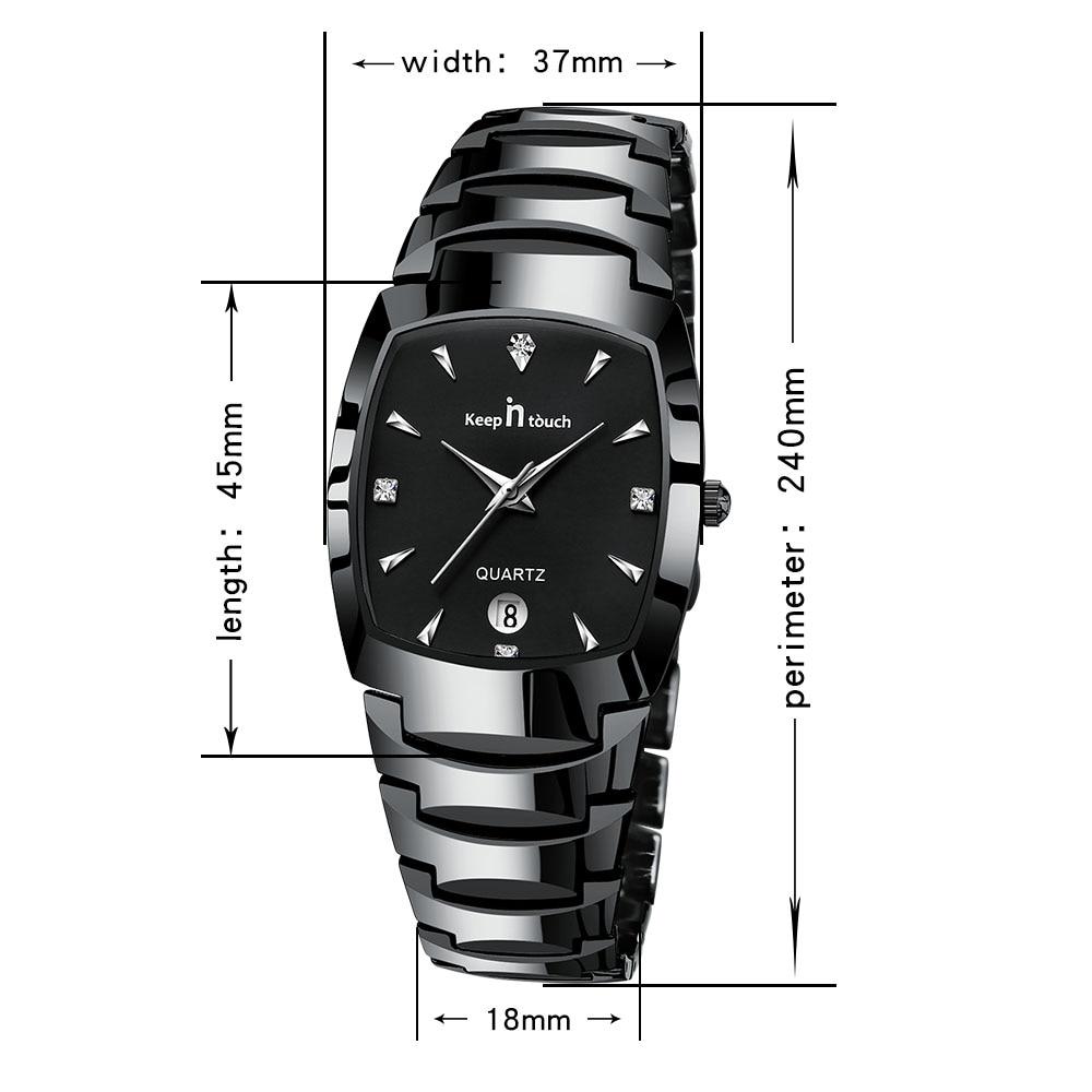 KEEP IN Touch Topmerkhorloge Heren Zwart Bedrijfskalender Quartz - Herenhorloges - Foto 2