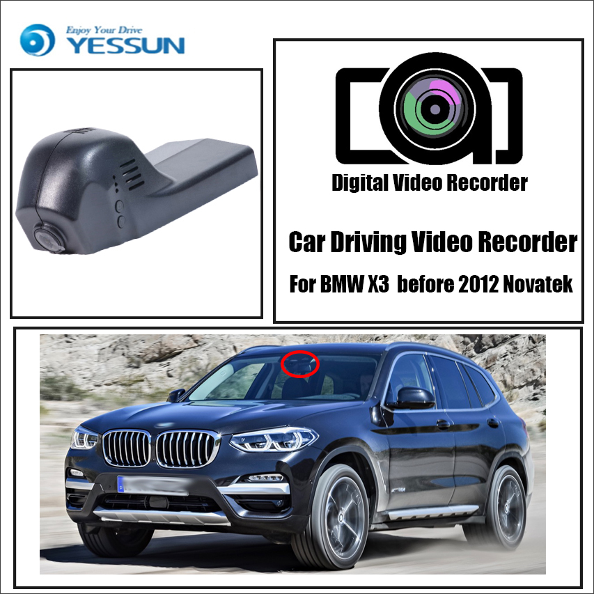 YESSUN enregistreur de conduite voiture Wifi Dvr Mini caméra pour BMW X3 X5 X6 2012 Novatek voiture Dash Cam enregistreur vidéo