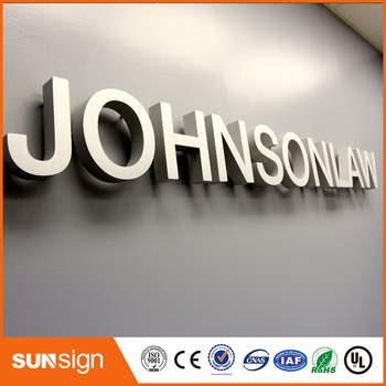 Professional designed 3D cutting acrylic cutting letters