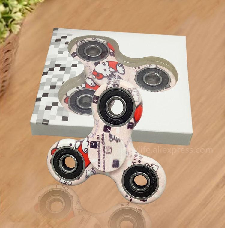 Višebojni trokut Gyro Finger Spinner Plastika EDC ruka za autizam / - Igre i zagonetke - Foto 3