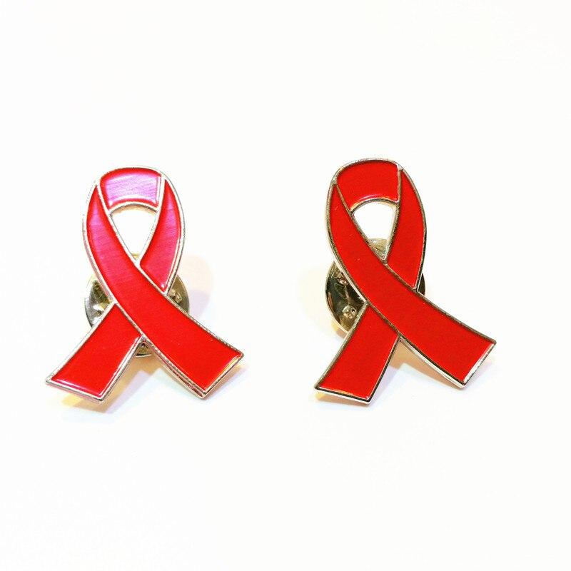 Red Ribbon Pin For HIV Awareness