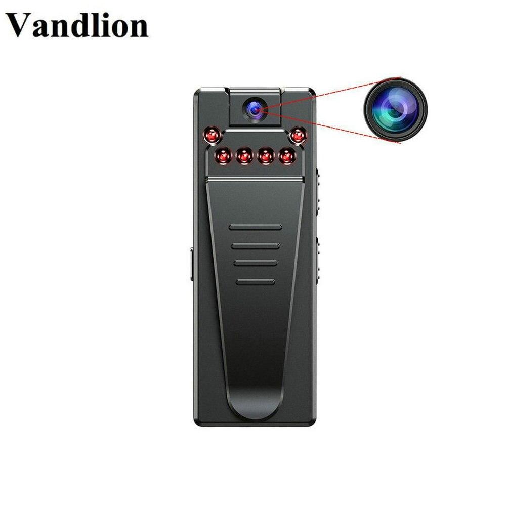 Vandlion Micro cámara de vídeo grabadoras de voz Red Cam infrarrojo Grabación de visión de noche de dictáfono Clip videocámara DV coche A7