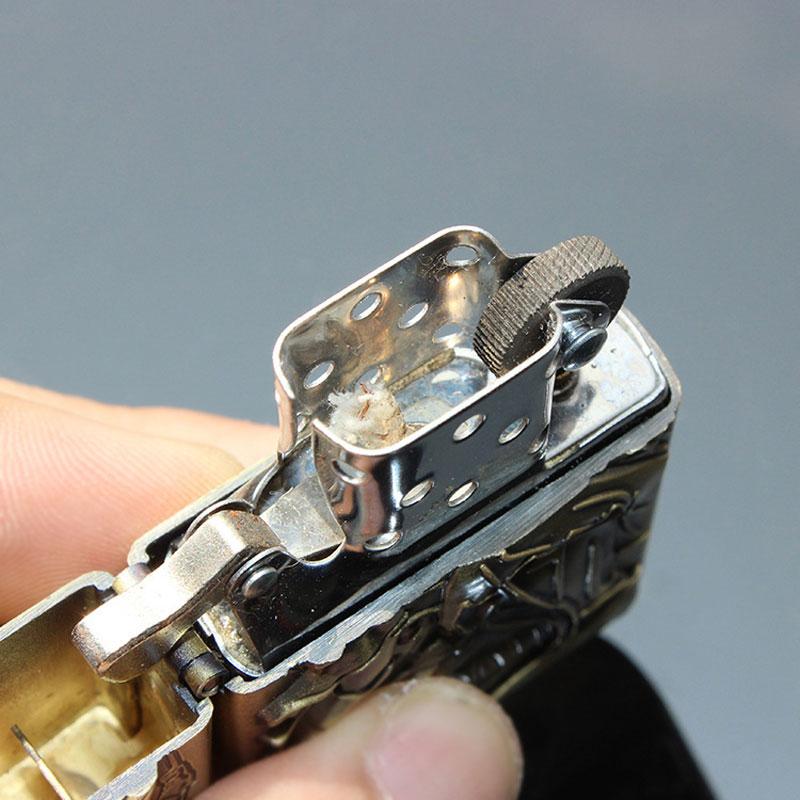 Vintage Copper Metal Refillable LoL Mini Grinding Wheel Flame Bar ...