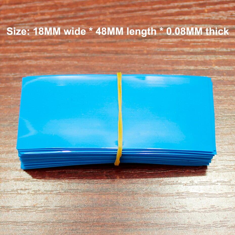 100 pçs/lote no.5 7 bateria embalagem isolamento calor shrinkable manga capa bainha filme pvc