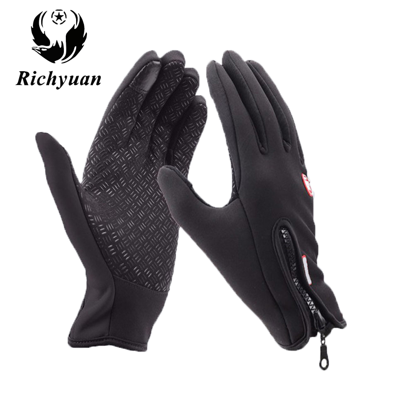 Classic Black Winter Leather Gloves Outdoor Sport Driving Touch Screen Gloves Women Men Military Army Guantes Tacticos