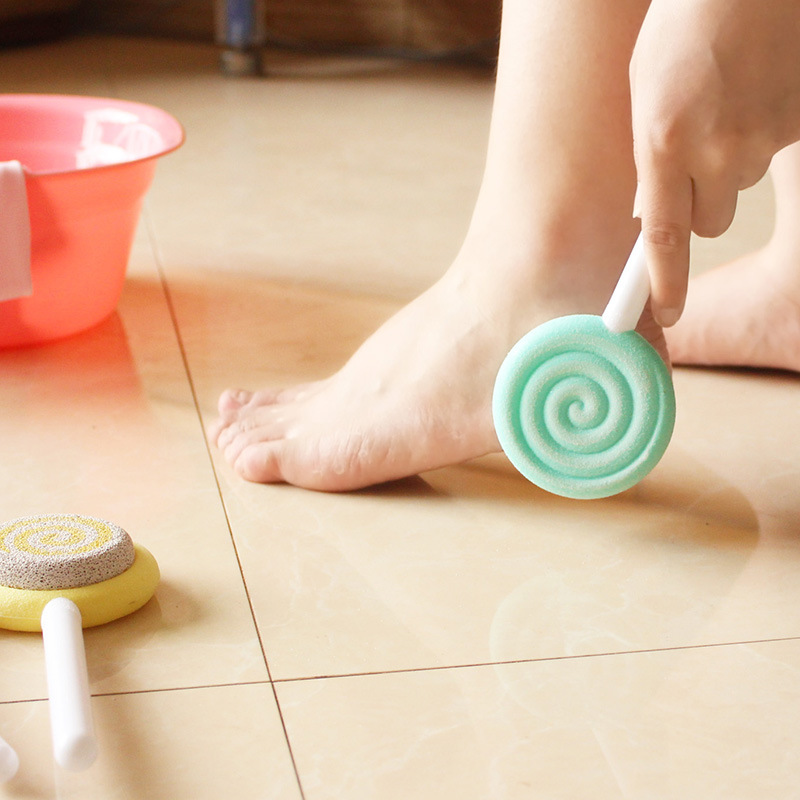 Home cute lollipop double-sided foot stone scrub brush toe exfoliator