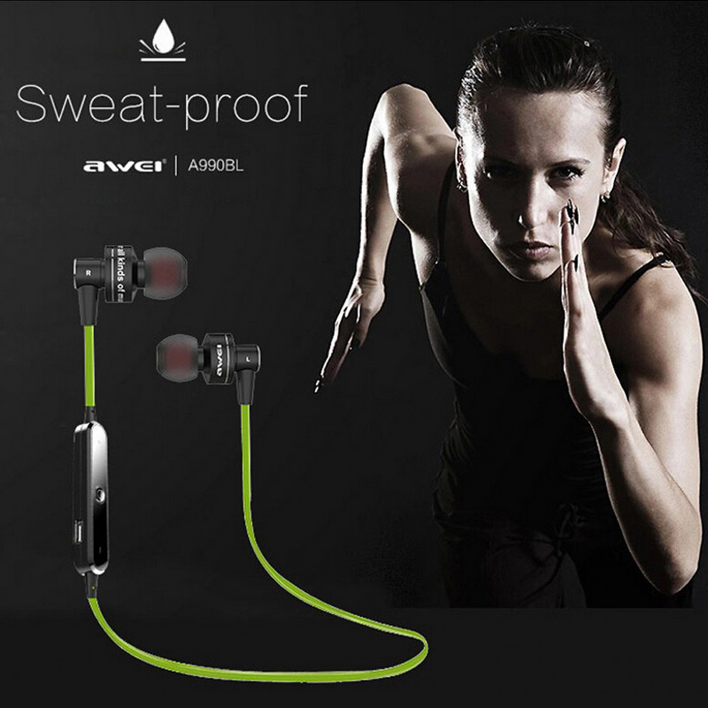 Awei A990BL Sport Blutooth Auriculares Bluetooth Earphone For Your Ear Phone Headset Cordless Wireless Headphone Earpiece Earbud 6