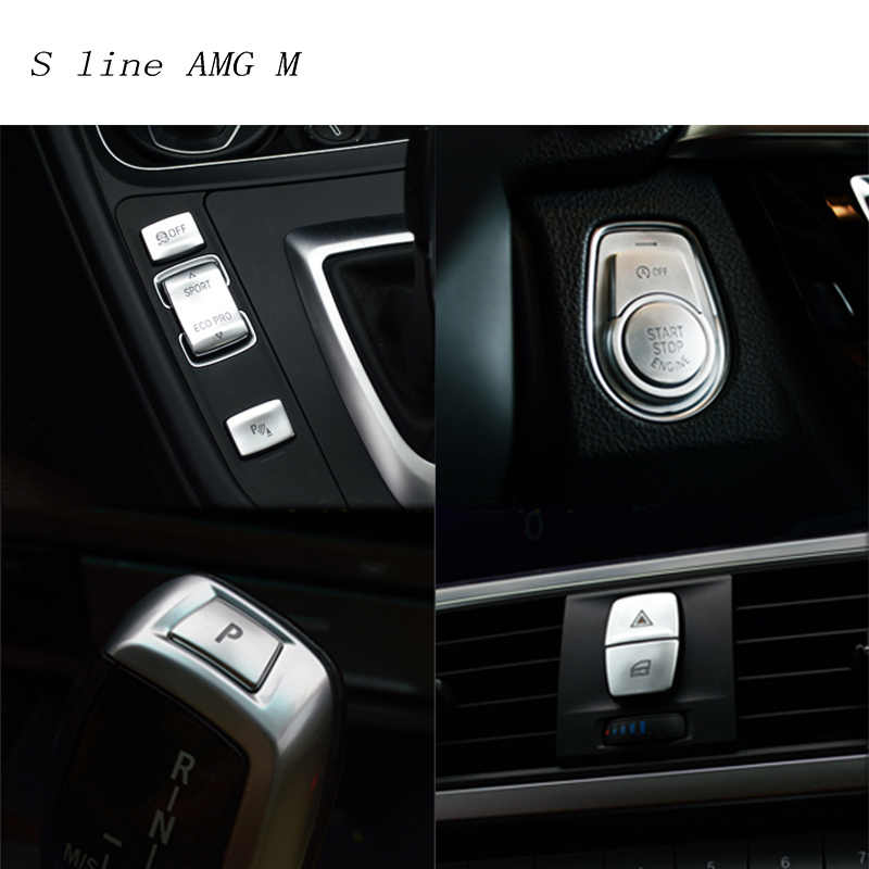 Car Styling Interior Button Decoration Cover Trim Sticker Decals For