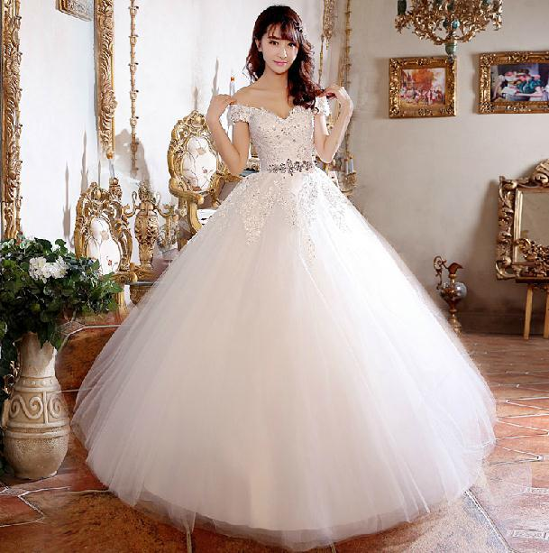 Fashion New 2014 Wedding dress High Quality Lace Diamond Vintage ...