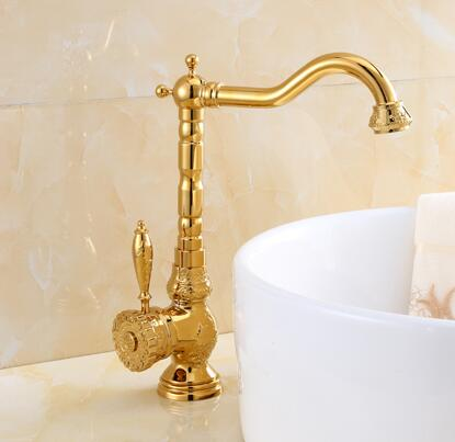 new arrival basin faucet high quality kitchen faucet Europe style art carved wash faucet cold and hot Gold bathroom sink faucet jingde ceramic bathroom wash basin art basin small square jasmine