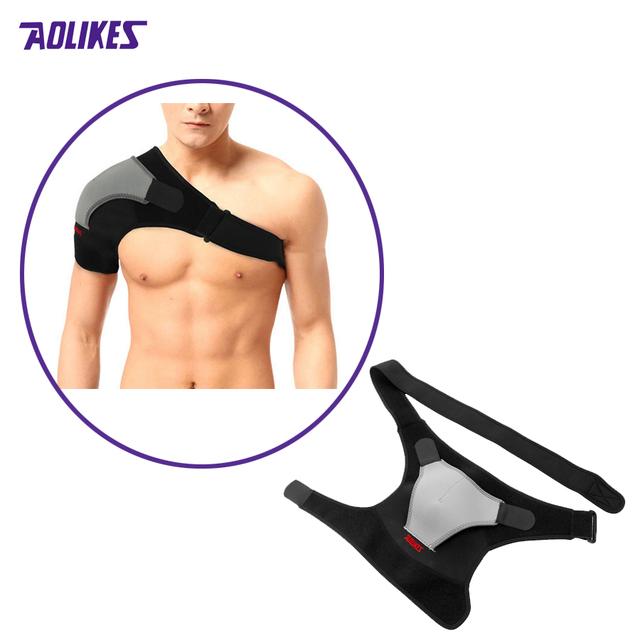Prevenção de Lesões Desportivas Proteção Reforçada ombro Bandagem de Proteção Única Alça de Ombro Ajustável ombro Direito Z16301