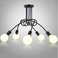 Creative Modern Led Ceiling Lights Fixture E27 3 5 Heads Home Lighting Ceiling Lamp Living Room