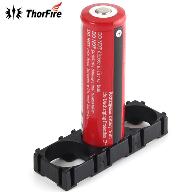 THORFIRE 1PCS 3x 18650 Radiating Shell ABS Black Plastic Holder Battery Pack Spacer Lightweight And Durable Lighting Accessories
