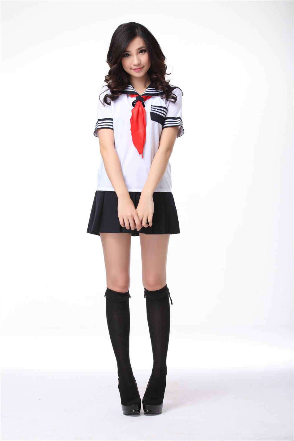 adult <font><b>Sexy</b></font> <font><b>japanese</b></font> <font><b>school</b></font> <font><b>uniform</b></font> sailor <font><b>uniform</b></font> suits for girls sailor costumes women t shirt dress image