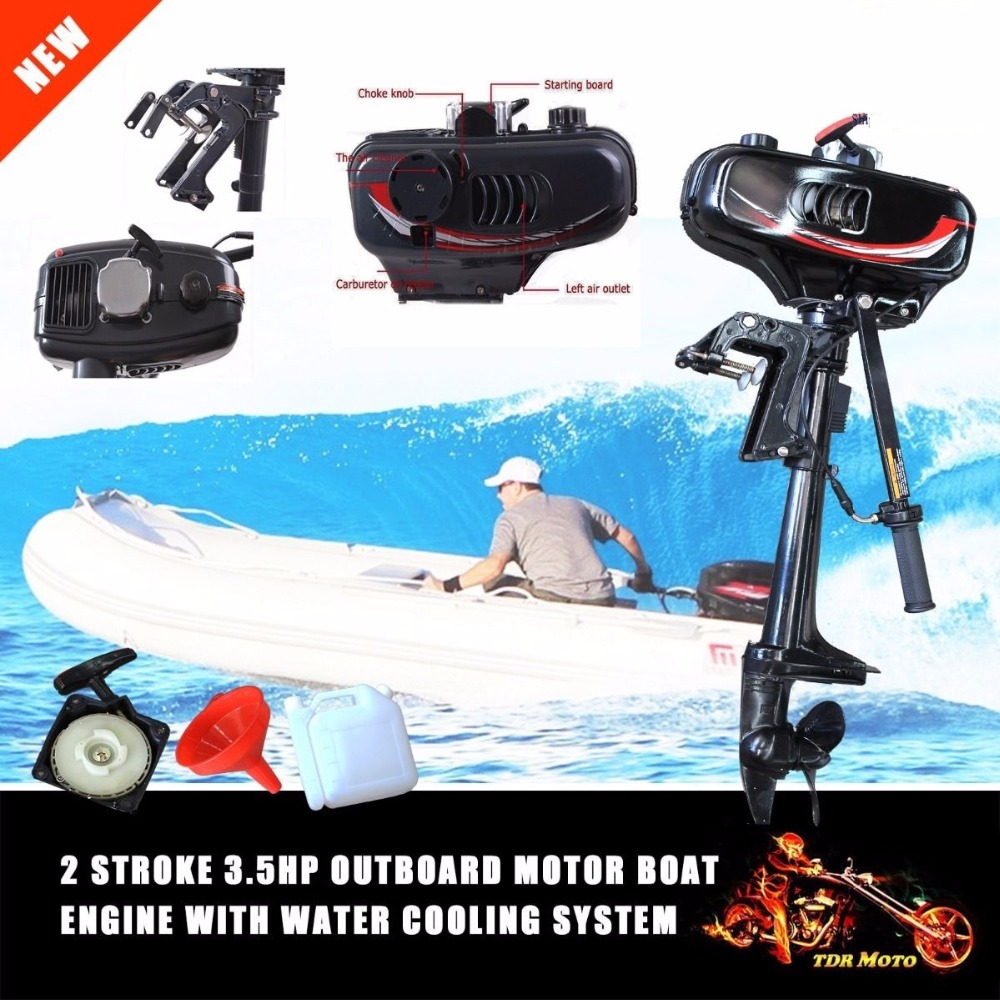 Outboard Motor Fishing Boat Engine Inflatable Water Cooling System 3.5HP 2Stroke