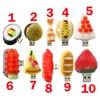 Pendrive cartoon Korean sushi pendriver 8gb 16gb 32gb 64G usb flash drive hamburger/strawberry cake/dishes gift external storage