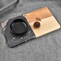 Marble and Acacia Wood Cutting Board, Cutting Boards/Serving Trays, Modern Home Decor, Kitchen Supplies