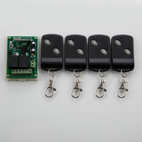 DC12V 2CH RF Wireless Remote Control System Teleswitch 4Transmitter And 1receiver Universal Gate Remote Control Radio