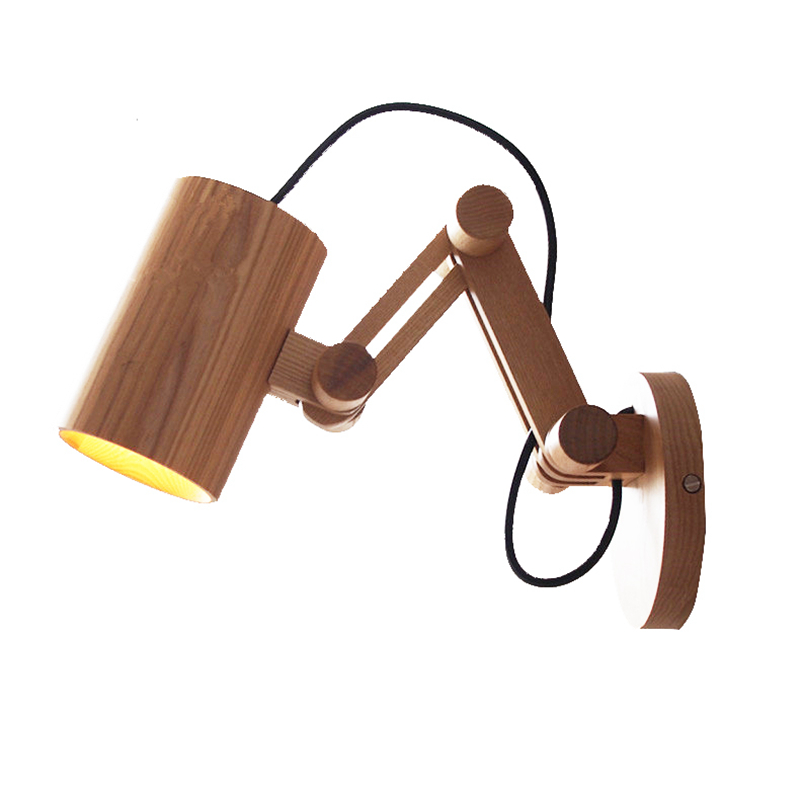 Modern Led Wood Wall Lamp unfoldable Wall Light Fixtures Living Bedroom Home Lighting Lamparas De Pared Vintage Wall Sconces bird wall lamp alouette light iron lampshade modern led wall light for home lamparas de pared