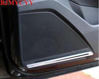 BJMYCYY 4PCS SET Car Door Sound ABS Decorative Light For Volkswagen New Tiguan L 2017 2018