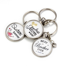 Evil Eye Hand-held Key Chain Parent-child Family Member To Keychain Best Mom Sister Brother Gifts EY6141(China)
