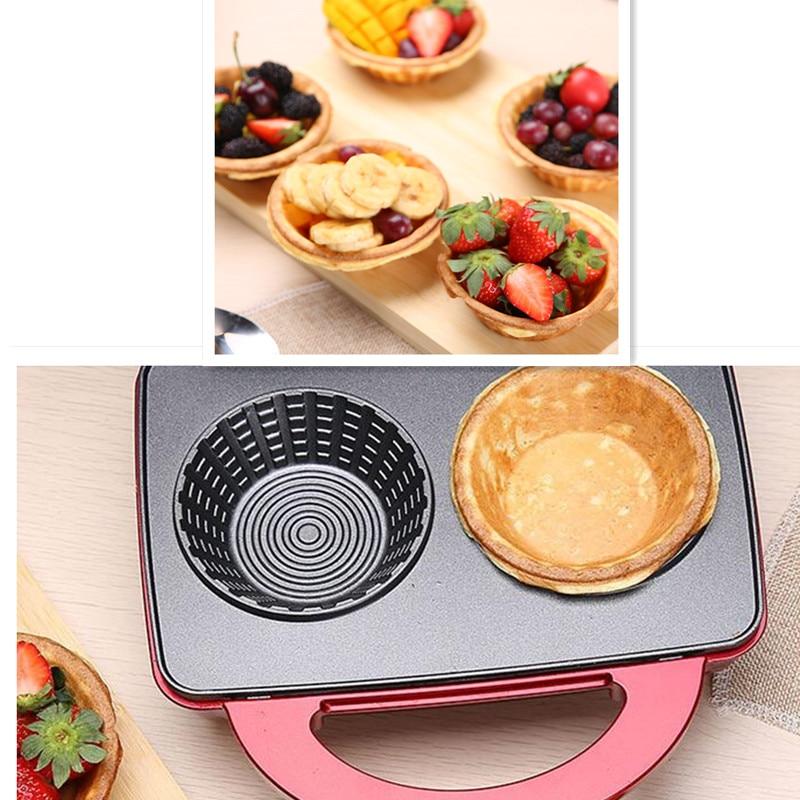 220V Electric Ice Cream Waffle Bowl Maker Iron Mold Plate Multifunctional Breakfast Cake Machine DIY Waffle