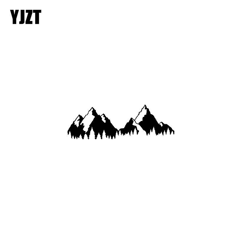 YJZT 17,8 см * 5,8 см приключения в горах винил черный, серебристый цвет мотоцикл Стикеры наклейки C13-000379