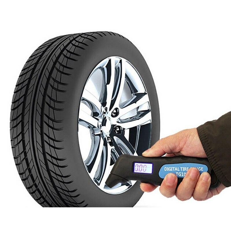 ABS 5-100 PSI BAR digital autom/ático de la rueda de aire del neum/ático calibrador del metro de la presi/ón de prueba del probador del neum/ático para el veh/ículo coche de la motocicleta
