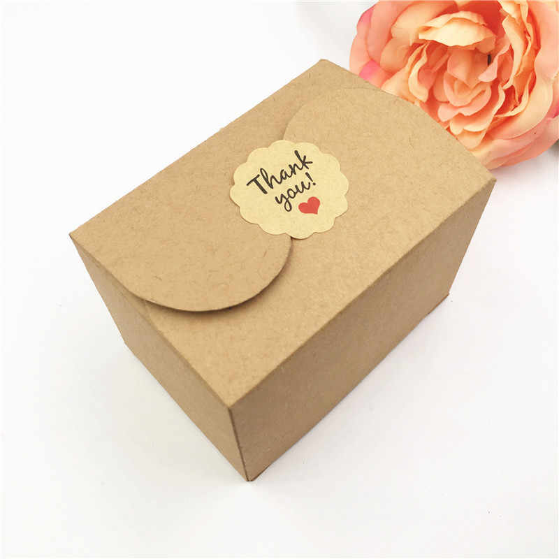 30Pcs Cuboid Paper Box for Weeding Candy Cake Cupcake Chocolate Favor Storage Cardboard Boxes Gift Packaging Box With Stickers