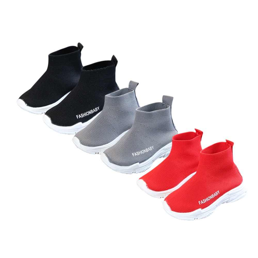 Children Shoes Girls Sneaker Running Boys Casual Shoes Outdoor Anti-Slippery Kids Socks Shoe Sneaker 1-6Y new