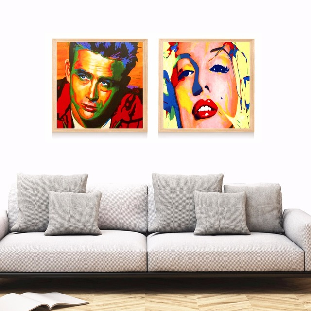 James Dean Marilyn Monroe Pop Art Canvas Art Print Painting Poster Wall Pictures For Living Room  sc 1 st  AliExpress.com & James Dean Marilyn Monroe Pop Art Canvas Art Print Painting Poster ...