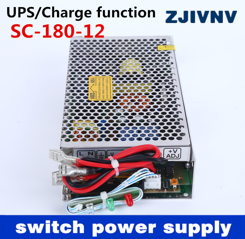 Neue 180 watt 12 v 13.5A universal AC UPS/Lade funktion monitor schalt netzteil eingang 110/220 v batterie ladegerät ausgang 12VDC