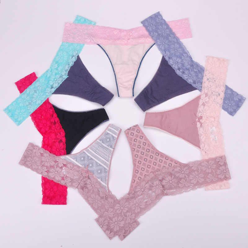 7XL Wanita G-string Seksi Renda Pakaian Dalam Wanita Celana Dalam Pakaian Dalam Wanita Bikini Pakaian Celana Thong Intimatewear 1 Pcs/lot ZHX13