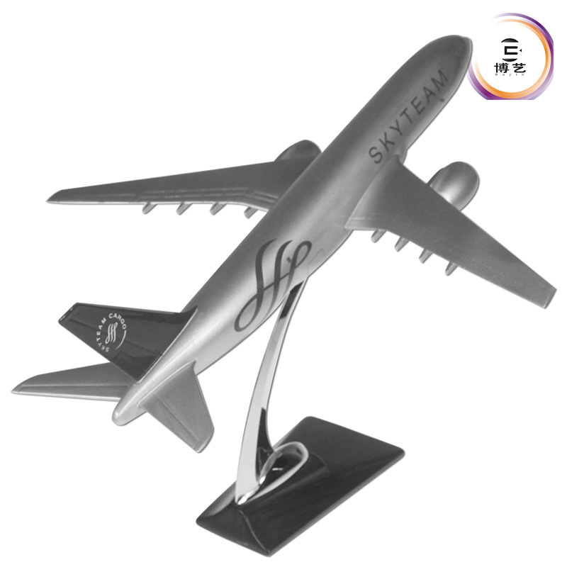 32CM Aircraft Model Boeing 777 SkyTeam Alliance Aeronautics Model Static Decoration Model 1 400 jinair 777 200er hogan korea kim aircraft model